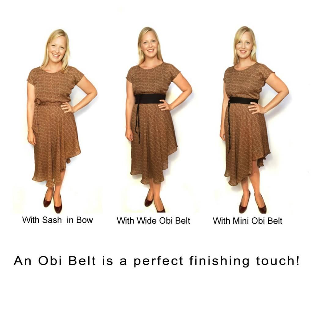 Sarah Bibb Mini Obi Belt- Fancy Black
