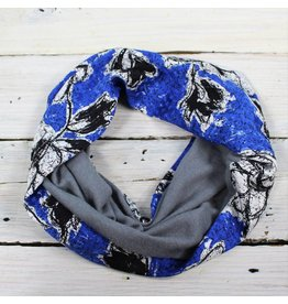 Sarah Bibb Single Loop Infinity Scarf - Blue Dove/Fleece