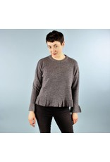 Ruffle Sweater - Cloudy Grey