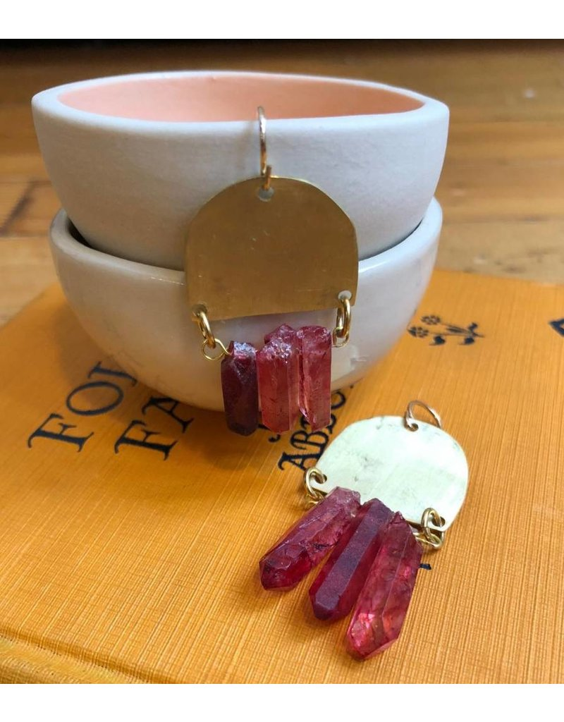 West Native Shada Earrings - Crimson