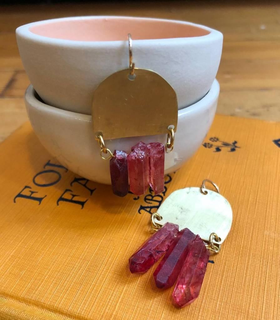 West Native Shada Earrings - Crimson