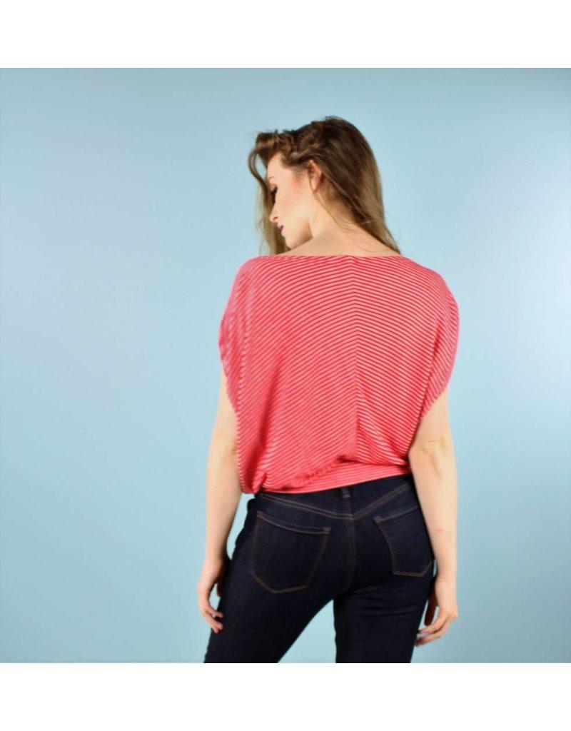 Sarah Bibb Melanie Top - Razzle Stripe