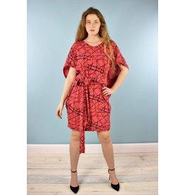 Sarah Bibb Meredith Dress - Flame Grid