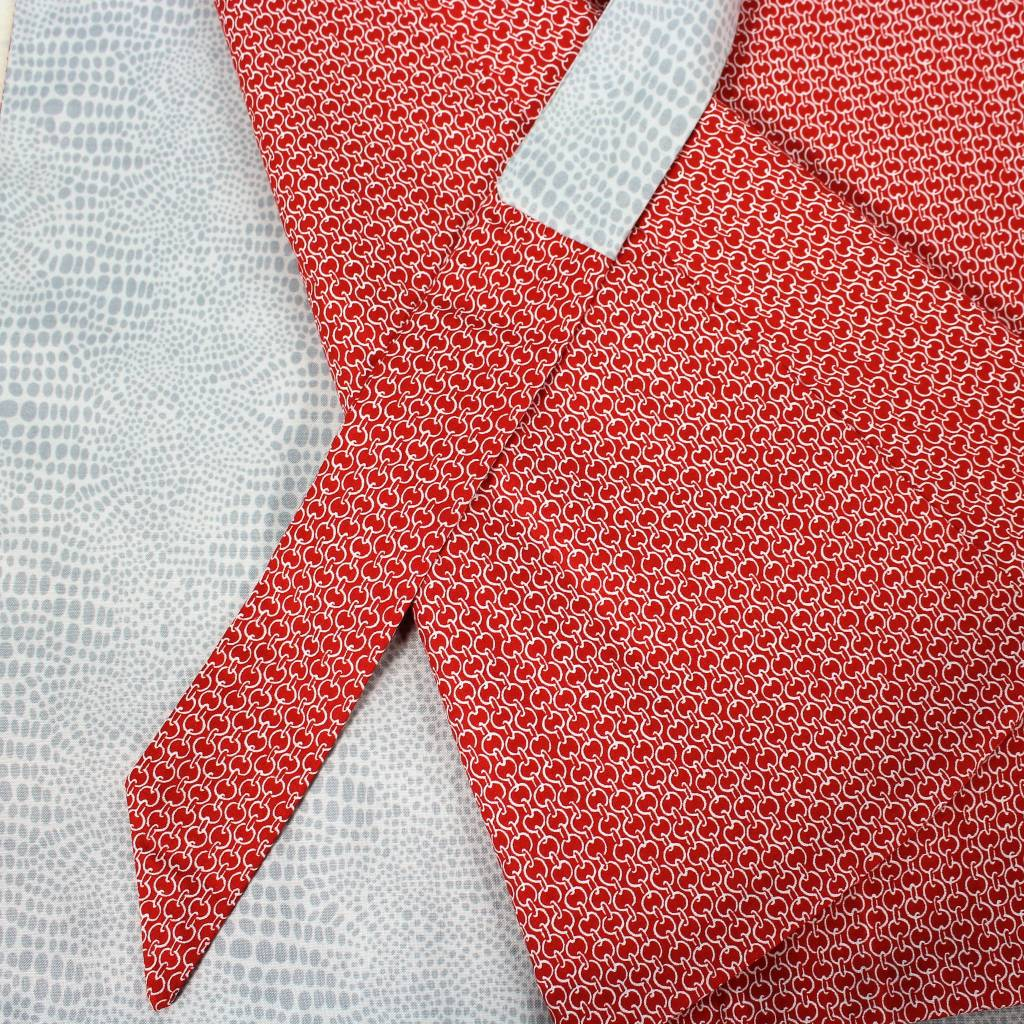 Sarah Bibb Hyla Reversible Wrap - Red/Grey Snake