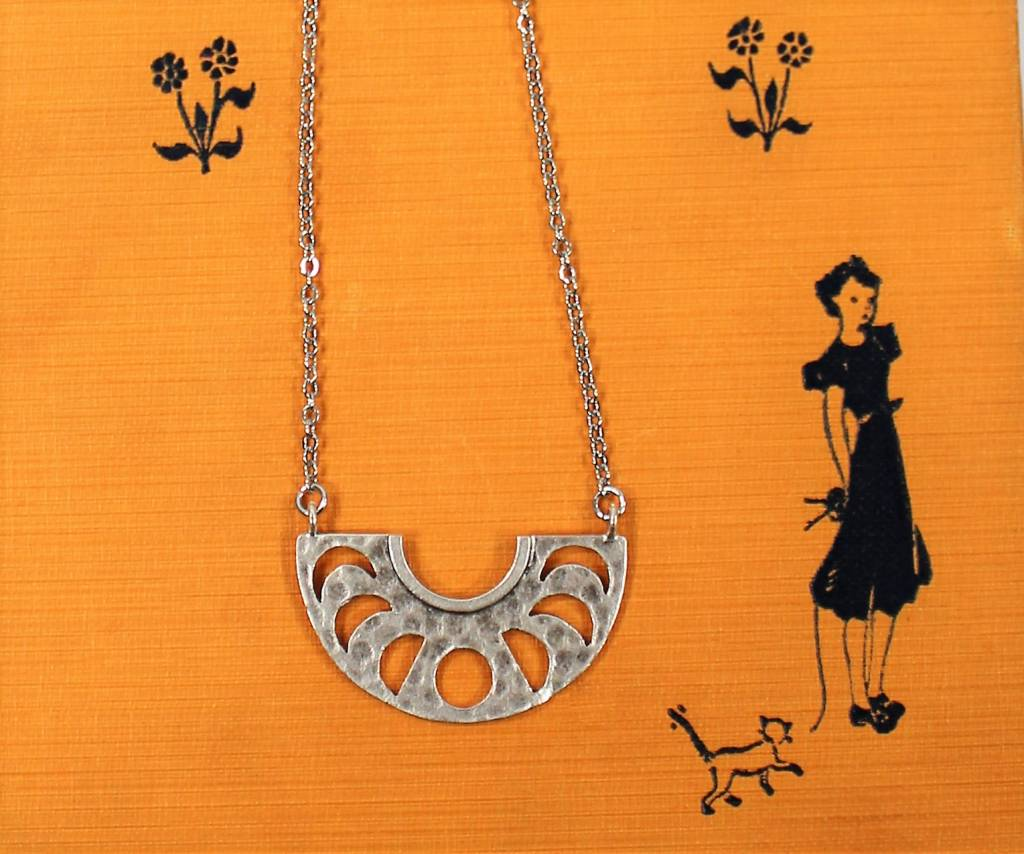 Nicole Weldon Cut out Half Moon Necklace