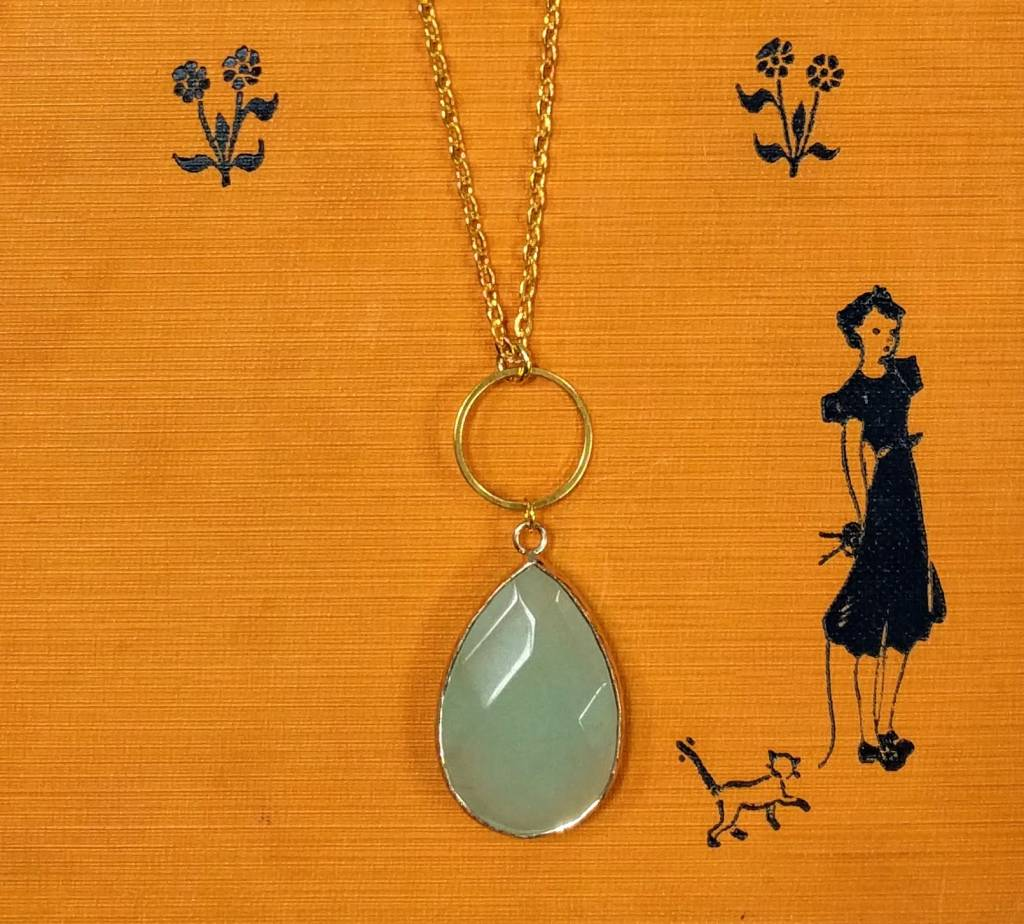 Nicole Weldon Stone Necklace