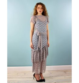 Sarah Bibb Louise Back Wrap - Grey Day Lace