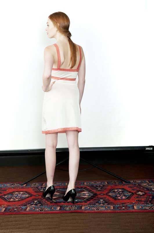 Sarah Bibb Alice Slip by Sarah Bibb - Ivory and Coral