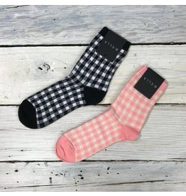 B. Ella Gingham Socks - multiple colors