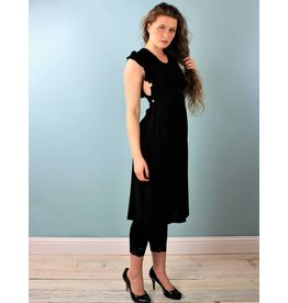 Cameo Pinafore Dress - Black
