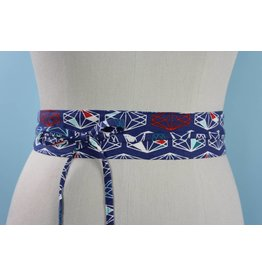 Sarah Bibb Mini Obi Belt- Geo Gem