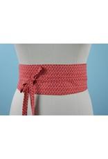 Sarah Bibb Obi Belt  - Red Chain