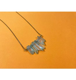 Peter and June Echo Necklace -Aqua Quartz