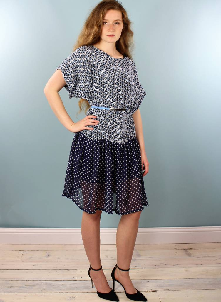 Sarah Bibb Paulie Dress - Iznik/Dottie