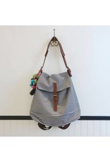 Fredd & Basha Ellie Convertible Backpack - Blue Stripe