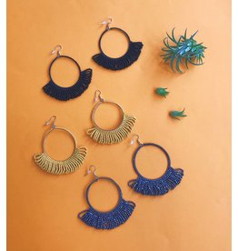 Ink & Alloy Fringe Hoop - Multi