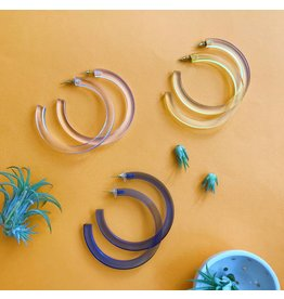 Ink & Alloy Lucite Hoop - Multi Color