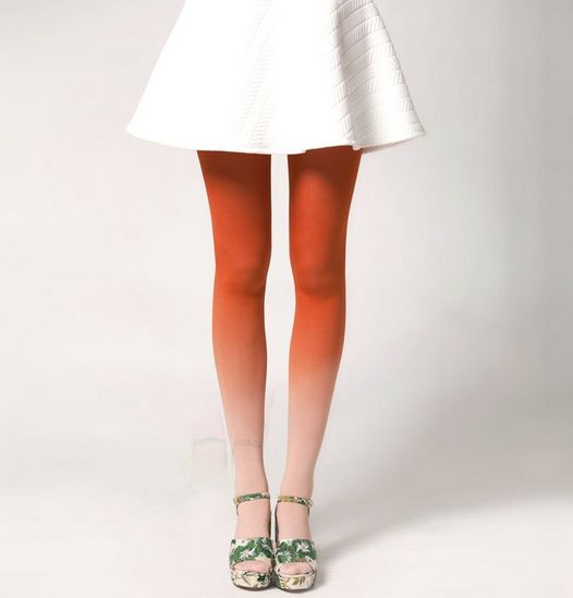 BZR Hand Dyed Ombre Tights - Mars