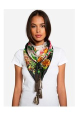 Johnny Was Silk Tassel Scarf - Bed of Roses