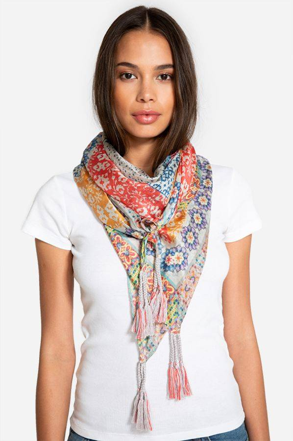Johnny Was Silk Tassel Scarf - Tilly