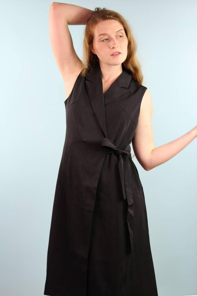 Jovonna Shana Wrap Dress - Black