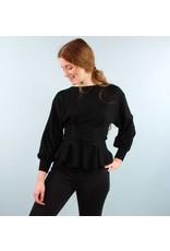 Jovonna Jeni Corset Sweater - Black