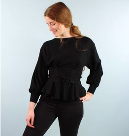 Jovonna Jeni Corset Sweater - Black