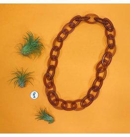 Ink & Alloy Lucite Oval Chain - Amber