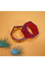 Ink & Alloy Faceted Bangle - Multi Colors