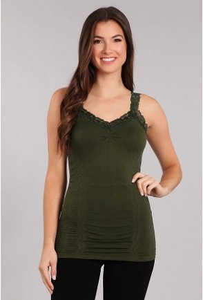 M Rena Favorite Lace Camisole - Forest