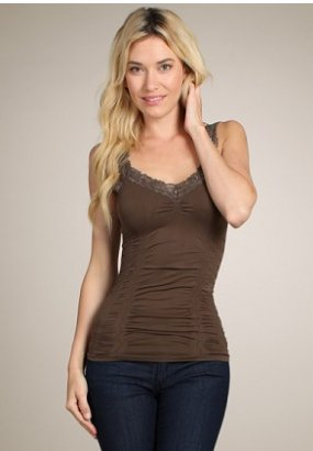 M Rena Favorite Lace Camisole - Chocolate