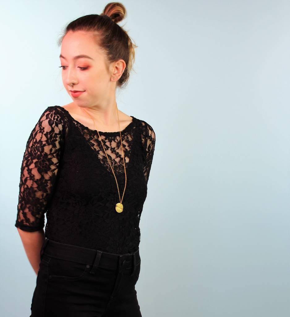 Sarah Bibb Caroline Tee - Black Lace
