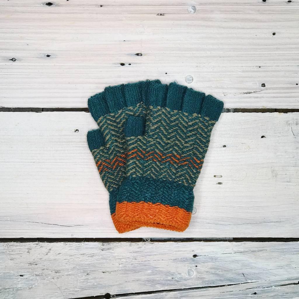 Fingerless Gloves - Chevron
