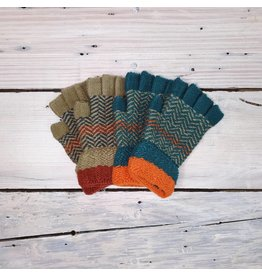 Fingerless Gloves - Chevron