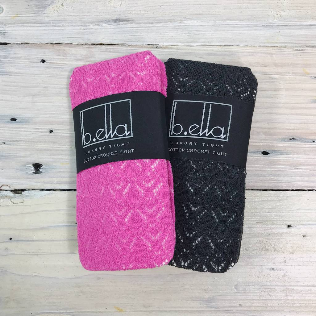 B. Ella Crochet Tights - Multi Color