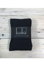 B. Ella Footless Fleece Tights - Black