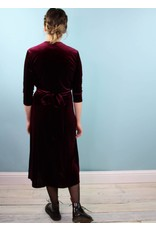 Winn Wrap Dress - Burg Velvet