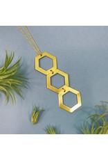 Nicole Weldon Trio Hex Necklace