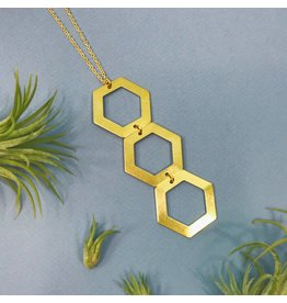 Nicole Weldon Trio Hex Necklace