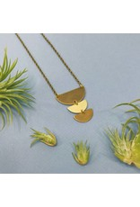 Nicole Weldon Trio Half Round Necklace