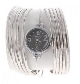 Silver Bangle Style Watch Bracelet
