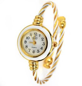Gold And White Watch