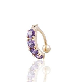 Purple & Gold Belly Button Ring