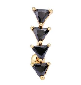 Black Triangle Belly Button Ring
