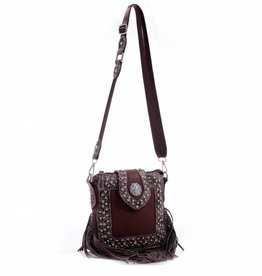 Brown Tassel Purse