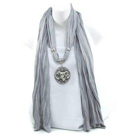 Silver Pendant Scarf