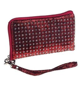 Maroon Jeweled Cell Phone Case
