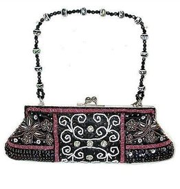 Black & Red Beaded Purse