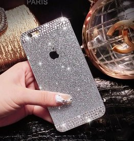 Silver iPhone 6 Glitter & Rhinestone Case