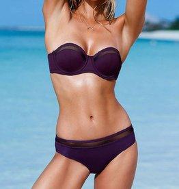 Purple Mesh Inserts Bikini